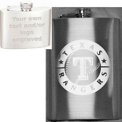 12oz Personalized Hip Flask - Your Text/Logo Custom Engraved - Gift, Weddings