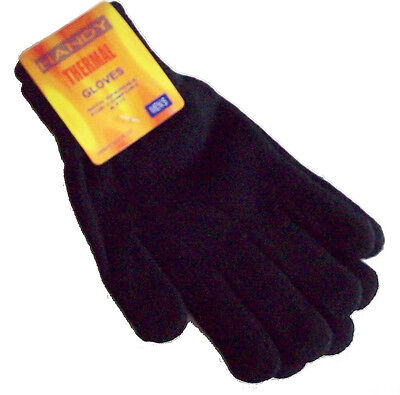 Mens Gents Youths Thermal Warm Knitted Gloves One Size Assorted Colours Free P&P