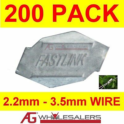 200 Medium X Fastlink Fence Fencing Wire Joiners -Works With Gripple® Tensioning