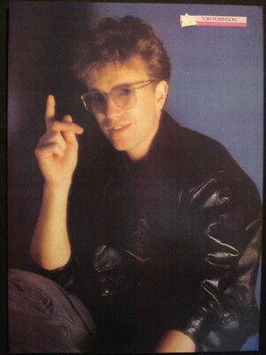 TOM ROBINSON - 1 PAGE PIN UP POSTER FROM 1980s No1 MAGAZINE
