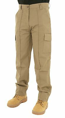 Mens Cargo Combat Trousers Size 28 to 52 Black Navy Khaki - LEISURE WORK CASUAL