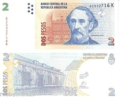 ARGENTINA 2 Pesos Banknote World Money Currency South America BILL pick 352 Note