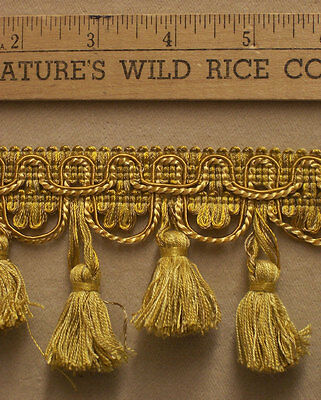 """Tassel Trim in Yellow Gold & Taupe 163"""" Long Sewing Crafts   TR 137"""