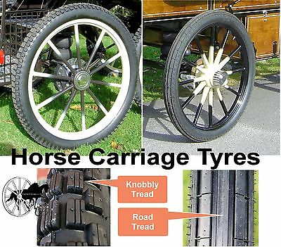 Horse Carriage Tyre for Cart Gig Pneumatic Wheels Many Sizes