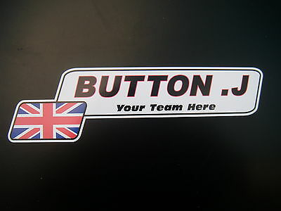 PERSONAL NAME STICKERS - KARTING - MOTORSPORT - MOTORCYCLING Pack of 10 stickers