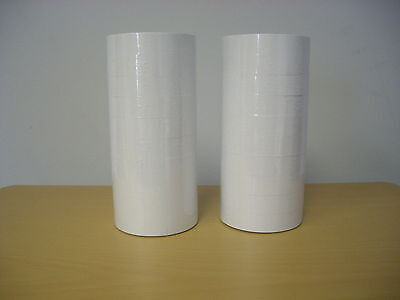 (2) Line Plain White Labels for MX-6600 10x10 Price Gun 20 Rolls 21,000 Labels