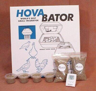 HovaBator Still Air Egg Incubator Kit for Reptiles   Thermometer, substrate