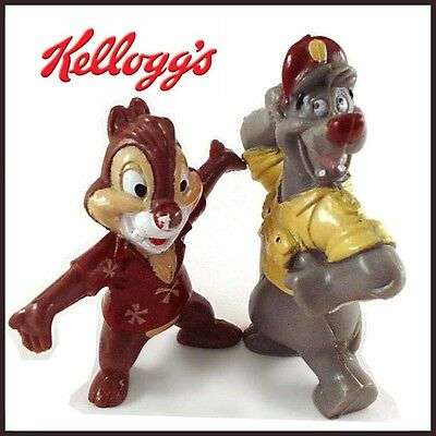 Two (2) 1991 Kellogg Cereal Premiums / Saturday Disney Cartoon Characters