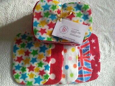 Easy Peasy value washable baby wipes x 20 Unisex prints Fleece Baby Wipes