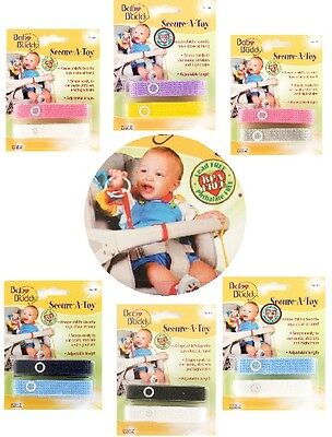 Baby Buddy Secure-a-Toy Adjustable Toy Strap/Clip