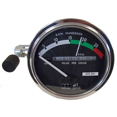 RE206855 Tachometer with White Needle for John Deere Tractor 3010 4000 4010 4021