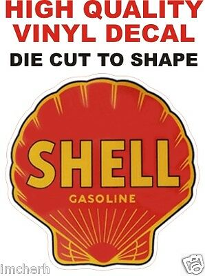 Vintage Style Shell Gasoline Gas Pump Decal  The Best!!