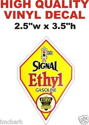 Vintage Style Economy Anti Knock Gasoline Gas Pump Decal Nice /& Glossy The Best!