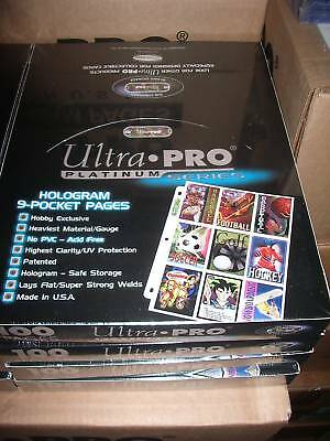 Ultra Pro Sealed 9 Pocket Page Box Of 100 Retail $45