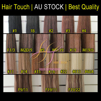 22 inches Clip in Remy Human Hair Extensions Black Brown Blonde