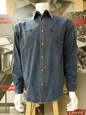e53284a5 Levi's Men's Long Sleeve Classic Denim Work Shirt Authentic Stonewash