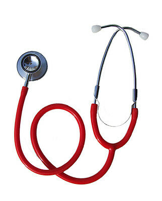 New Red Double / Dual Head Stethoscope EMT Doctor Nurse Vet Student UK Dispatch*