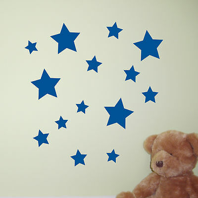39 STAR Wall Stickers | Wall Decals | Window Stickers SK003