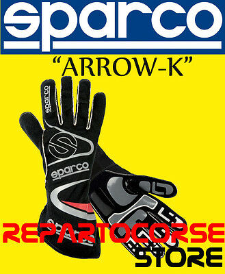 "Guanti Sparco Kart ""arrow Kg-7"" Nero Adulto - 002532"