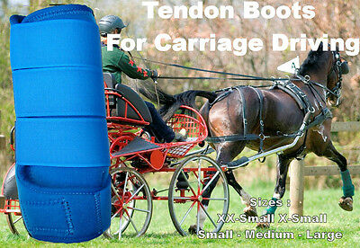 Horse Tendon Boots R Blue : Miniature To Horse Size Ideal For Carriage Driving