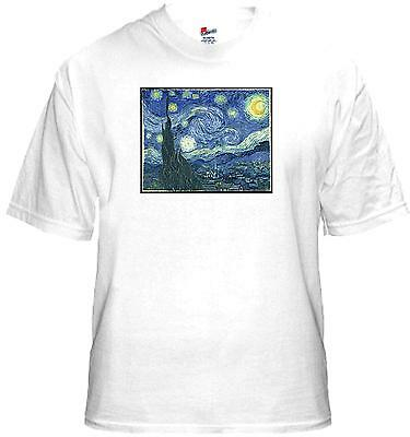 T Shirt New Unisex Post Impressionist Painter VINCENT VAN GOGH Starry Night