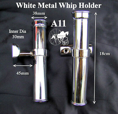 Horse Carriage Coach Whip Holder Heavy Duty Style A11 A12 Brass - Stainless