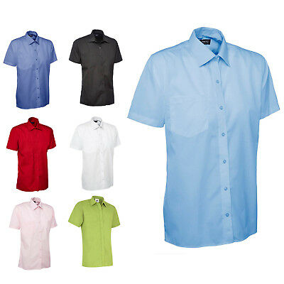 Mens Classic Short Sleeve Easy Care Formal Shirt OFFICE CASUAL & BUSINESS - 710