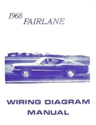 FORD 1968 Fairlane Wiring Diagram Manual 68