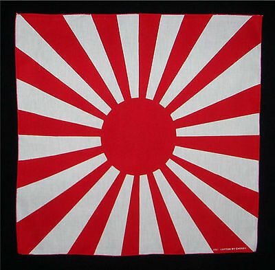 Japanese Japan naval ensign flag bandana handkerchief headwrap biker 20X20 in.