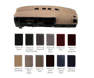 VELOUR Dash Cover - Custom Fit for Your Ford - Many Colors to Pick From V6FD