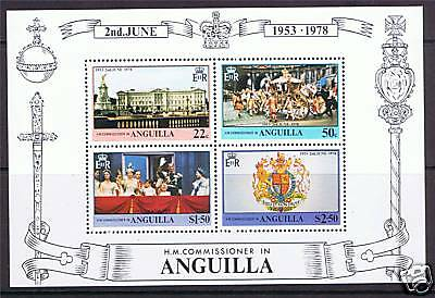 Anguilla 1978 Anniv.of Coronation MS SG 324 MNH