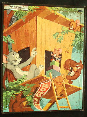 TOM AND JERRY Frame-Tray Inlay Picture Puzzle Copyright 1954 Loews Whitman Pub.