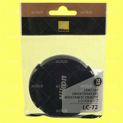 Genuine Nikon LC-72 Front Lens Cap 72mm Snap-On Lens Dust Cover Protector