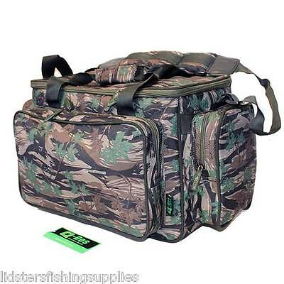 Q DOS Brand New Green Camo Carp Pike Fishing Tackle Bag Holdall Tackle Bag