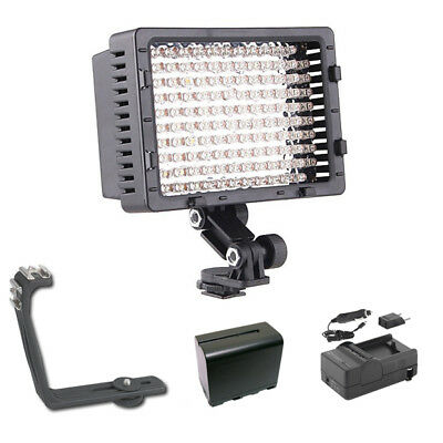 Pro XB-12 LED on camera video light F970 for Canon XL2 H1S H1A XA10 camcorder