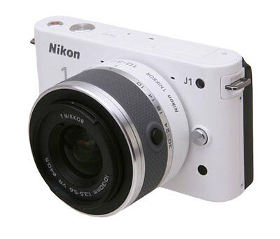 Nikon 1 J1 Mirrorless Digital Camera with 10-30 mm Lens (White) New 27528