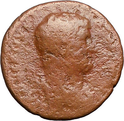 Hadrian 132AD Rare Ancient Genuine Roman Coin Egypt reclining Sistrum i24716