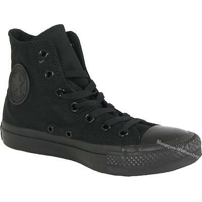 Converse Chuck Taylor All Star Schwarz Mono M3310 Hi Chucks Black Turnschuhe