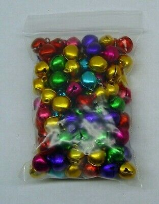 BULK LOT 700 CHRISTMAS JINGLE BELLS Bright Jewel COLORS 10-12mm  Drops Beads