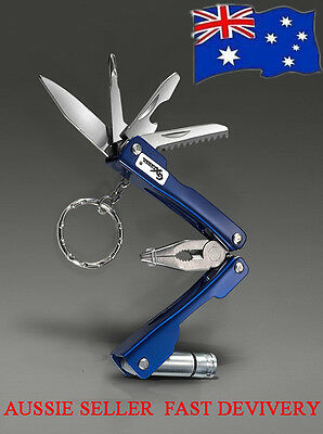 Multi Tool Folding 6 in 1 with Knife+Torch+Pliers+Screwdriver+Saw+Bottle opener