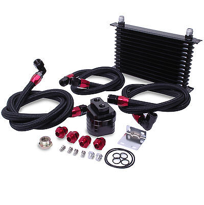 Universal Race Rally Drift Black Edition 13 Row Oil Cooler & Relocation Kit