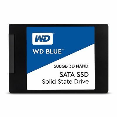 "Western Digital WD Blue 500GB 2.5"" SATA Internal Solid State Drive SSD 550MB/s"