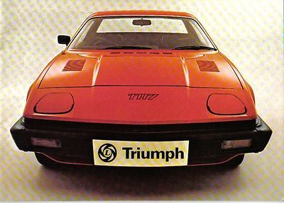 Triumph TR7 Fixed Head Coupe 1976-77 Original UK Sales Brochure Pub. No. 3214/A