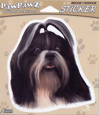 """Shih Tzu Decal Bumper Sticker Gifts Dogs Pets Animals Portraits 5"""" Outdoor"""