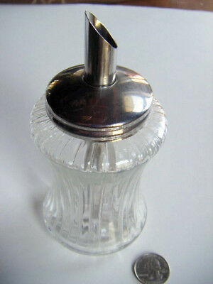 german chrome/pressed glass suger shaker Mid centuryMOD