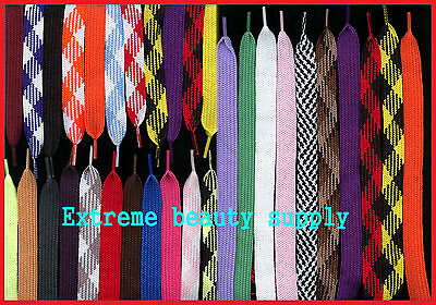 thick fat retro wide hip hop Skateboard Skating FASHION flat shoelace string red