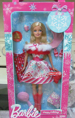 2011 Barbie Target Exclusive Happy Holidays Doll ~ Mint in the Box!