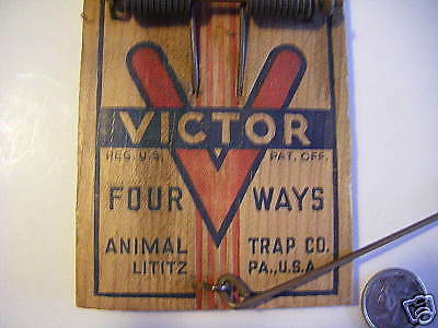 Antique Victor rat trap all copper parts advertisingSEE