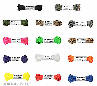 Rothco 550lb Paracord Type III 100% Nylon 7 Strand Core Rope 100FT  Made in USA