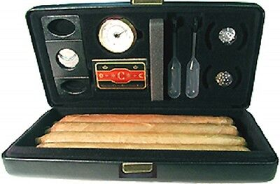 Csonka Cigar Case Humidor Traveler  Black  Ceder Bottom  Accessories  GSTRA-BLK